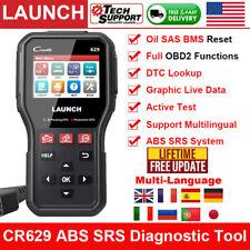Launch X431 Cr629 Car Abs Srs Test Oil Sas Bms Auto Obd2 Scanner Diagnostic Tool