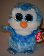 Ty Beanie Boos - ICE CUBE the Blue Penguin (6 Inch)(Glitter Eyes) MWMT