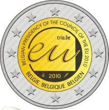 Belgie 2010  2 euro com. UNC  Voorzitterschap EU Raad   UNC uit de rol !!!