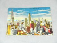 Vintage Skyscrapers in Mid-town Manhattan New York City Card Postcard NY