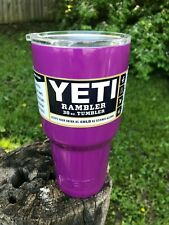 Large Yeti 30 oz Tumbler Rambler Cup PURPLE EngravingShop Closeout New OLD Stock
