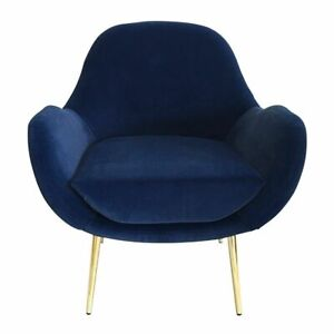 Laura Navy Blue Occasional Accent Chair 73x75x87cm By J.Elliot **NEW**