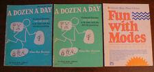 A Dozen A Day PIANO Books by Burnam :Preparatory & Book ONE & Fun with MODES