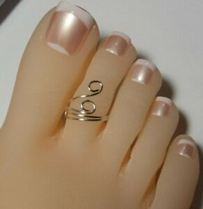 Swirl Toe Ring - Sterling silver   Adjustable