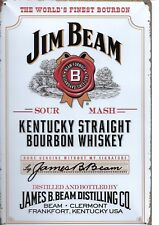 New Vintage Style Retro Metal Wall Hanging Sign Jim Beam Iconic