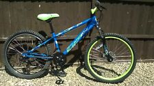 "Apollo Interzone Junior Kids Mountain Bike Blue Green Steel Frame 24"" Wheel"