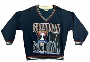 VTG Rare 1996 CFL 84th Grey Cup Championship Game Crew Sweater Size M Snow Bowl