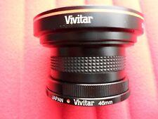 46mm multicoated Vivitar 0.42x fisheyemacro video lens