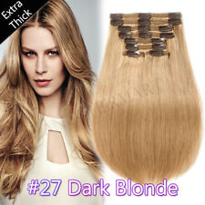 """Remy Clip In Real Human Hair Double Weft Body Wave Hair Extensions 10""""-24"""" P114"""