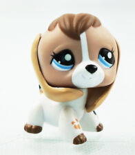 2'' Tan White Beige Brown Beagle Dog Toys Littlest Pet Shop LPS 2207 Cute Gift