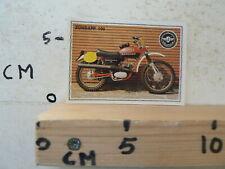 STICKER,DECAL ZUNDAPP 100 MX BIKE  SUPERMOTO ALBUM CARD PANINI NO 187
