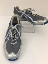 Asics Silver & Blue Hyper-XC Track Shoes Gy606  Size 11.5.    H11