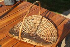 used wicker rattan basket used for creative dried flower displays etc