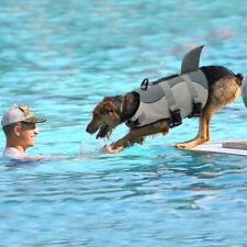 Dog Swimming Life Jacket Aid Buoyancy Small Large Breed Shark Fin Boating Vest