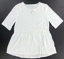 GAP KIDS girls Tiered Foil-dot Print Top size  XXL 14-16 White  NEW!