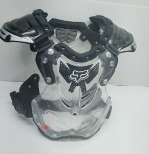 Fox Racing Youth Motocross Chest Back Protector Guard Clear Black DirtBike Small