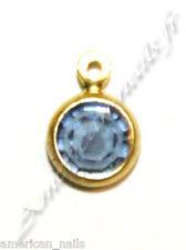 Piercing bijou Ongle Strass SWAROVSKI Drop Bleu Montana 4 mm Nail Art
