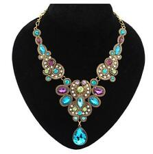 Pendant Fashion Betsey Johnson Rhinestone Gold Chain Crystal Gift Necklace Retro