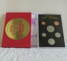 PAPAU NEW GUINEA 1981 6 COIN PROOF SET - sealed pack/cover