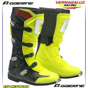 Stivali Enduro Cross - GAERNE - GX1 - GIALLO FLUO NERO