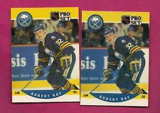 2 X 1990-91 PRO SET # 419 SABRES ROB RAY  ROOKIE NRMT-MT  CARD (INV# A3156)
