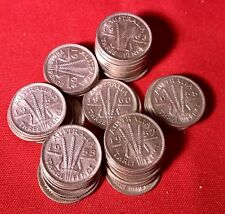 1954 Australian Three Pence Coin 50 %Silver In Case 1 Coin. Many Years Available