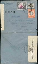 KUT NAIVASHA to INDIA 1944 PoW AIRMAIL CENSORS DHC148 + DHC70 to TRAINING SCHOOL