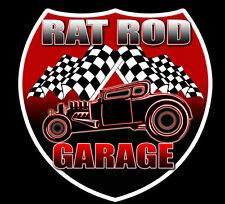 Rat Rod Garage 2-pack Vintage Style Hot Rod Decal Vinyl Sticker  DC 804
