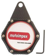 Motocicleta impuesto Portadisco aluminium/carbon Negro BNIB