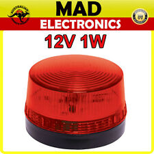 12V 1W Flashing Red LED Strobe for Home or Business Alarm System