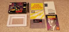 The Adventures of Batman & and Robin Super Nintendo SNES C/B Game & Box Inserts