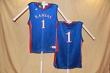 KANSAS JAYHAWKS  Adidas  #1   Basketball JERSEY   2XL   NWT    blue   $53 retail