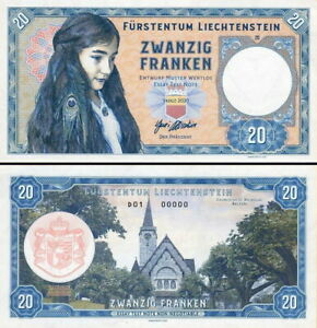 Liechtenstein - 20 Franken 2020 Fds UNC