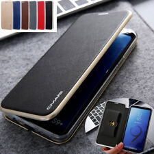 For Samsung S8 S9+ S20+ note20 Leather Wallet Card Slim Case Magnetic Flip Cover