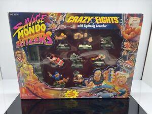 1992 Kenner Savage Mondo Blitzers Crazy Eights w/ Lightning Launcher RARE