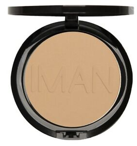 IMAN Luxury Pressed Powder - Sand Light Medium .35oz/10g NIB