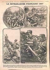 Machine Gun Mitrailleuse Modèle 1907 Poilus Tranchée Bataille de Verdun WWI 1915