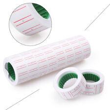 10x Rolls White Price Pricing Label Paper Tag Tagging For MX-5500 Labeller Gun