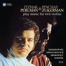 ITZHAK PERLMAN & PINCHAS ZUKERMAN PLAY MUSIC FOR TWO VIOLINS NEW CD