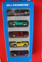 Vintage Hot Wheels 1995 50's Favorites Collection 5 Car Gift Pack New Old Stock