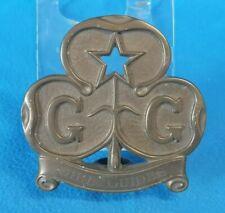 More details for vintage girl guides cast brass trefoil staff topper flag pole finial brownies