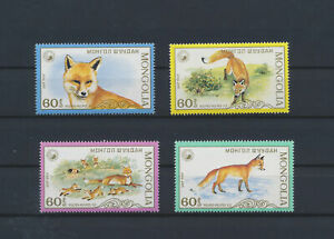 LN50663 Mongolia fox animals wildlife fine lot MNH