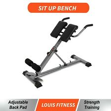 Roman Chair Back Hyperextension Adjustable Rack Lower Lumber back Core Trainer