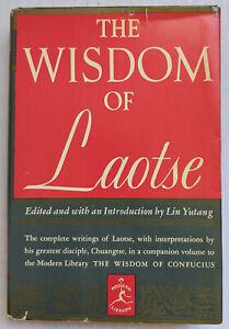 THE WISDOM OF LAOTSE Lin Yutang Modern Library #262