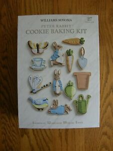 Williams Sonoma Peter Rabbit Cookie Cutter Kit ,Includes Piping tips & bags  New