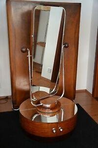 Seltene Art Deco Psyché Pondreuse Spiegel 1920