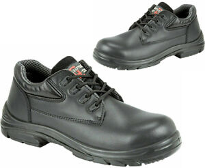 Mens Grafters EEEE Super Wide Fit Leather Safety Shoes Steel Cap Work Boots Sz