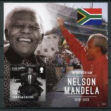 Turks & Caicos 2013 MNH Nelson Mandela in Memoriam 1v S/S I Politicians Stamps