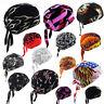Mens Womens Biker Skull Cap Motorcycle Bandana Head Wrap Du Doo Do Rag Black Hat