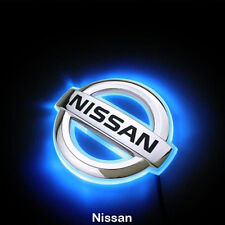 2D LED Car Logo Light Auto Rear Emblems Lamp For Nissan Livina Blue light